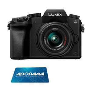 Panasonic LUMIX DMC-G7 16MP 4K Mirrorless Digital Camera with 14-44mm Lens (Black) + $50 Gift Card