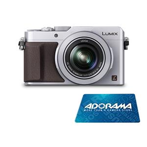Panasonic Lumix DMC-LX100 16.8MP HD Digital SLR Camera with 3x Optical Zoom (Silver) + $200 Adorama Gift Card