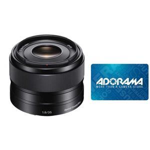 Sony 35mm F/1.8 OSS E-mount NEX Camera Lens + $50 Adorama Gift Card