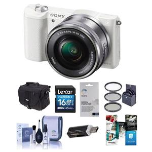 Sony Alpha A5100 Mirrorless Camera W 16 50mm Lens White