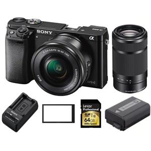Sony A6000 w/16-50mm /55-210mm Lens, Battery, Charger, Screen Protector, 64GB SDXC, $50 GC - $696 + FS