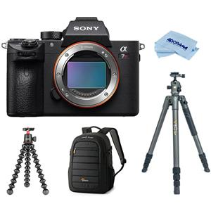 Sony Alpha a7R III 42.4MP 4K Ultra HD Wi-Fi Mirrorless Digital Camera Body (Black) + Tripod + 5K Stand + Backpack