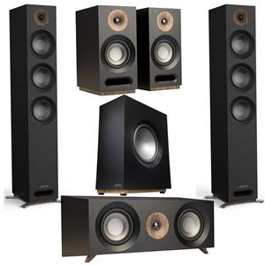 Jamo Studio Series S809 Floorstanding Speaker, Pair (Black) + Jamo S 803 Dolby Atmos Ready Bookshelf Speaker, Pair + Jamo S 803
