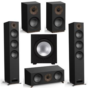 Jamo Studio Series S809 Floorstanding Speaker Pair (Black) + Jamo S 83 CEN Center Speaker + Jamo S 801 Bookshelf Speakers Pair + Jamo J 10 SUB 300W 10