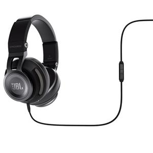 JBL Syncros S500 Powered Over-Ear Stereo Headphones with Mic (Black) - Recertified
