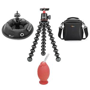 Joby GorillaPod 3K Flexible Mini-Tripod with Ball Head Kit + Lowepro Case + OctoPad + Blower Brush