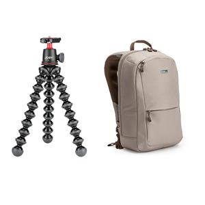 Joby GorillaPod 3K Flexible Mini-Tripod with Ball Head Kit + Think Tank Perception Tablet Daypack
