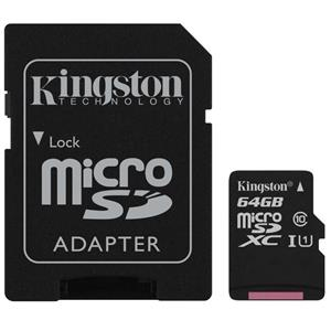 Kingston 64GB Class 10 microSDXC Card