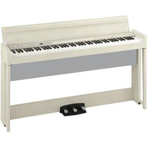 Korg C1 Air Bluetooth 88 Key Digital Piano with Real Weighted Hammer Action 3 Keyboard (White Ash)
