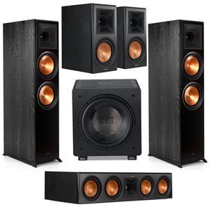 Klipsch 2x Reference Premiere RP-8000F Floorstanding Speaker + Klipsch Reference Premiere RP-8000F Floorstanding Speaker + Klipsch Reference Premiere RP-600M Bookshelf Speakers Pair + Klipsch Reference Premiere RP-504C 2.5-Way Center Channel Speaker + Rel Acoustics HT/1205 12