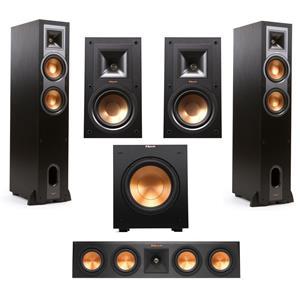 Klipsch R-26F Floorstanding Pair Speaker + Klipsch R-15M 2-Way Bookshelf Speaker + Klipsch RP-440C 2-Way Center Speaker + Klipsch R-10SW 10