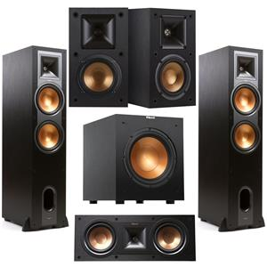 2 X Klipsch R-28F 600W Peak Power Floorstanding Speaker + Klipsch Reference R-25C Center Speaker + Klipsch R-14M 4
