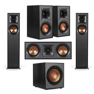 Klipsch R-610F Floorstanding Home Speaker + Klipsch Floorstanding Speaker + Klipsch R-41M Bookshelf Home Speakers (Pair) + Klipsch R-52C Center Channel Speaker + Klipsch R-120SW Subwoofer