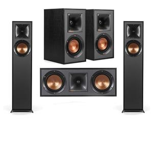 2 x Klipsch R-610F Floorstanding Home Speaker + Klipsch R-41M Bookshelf Home Speakers (Pair) + Klipsch R-52C Center Channel Speaker