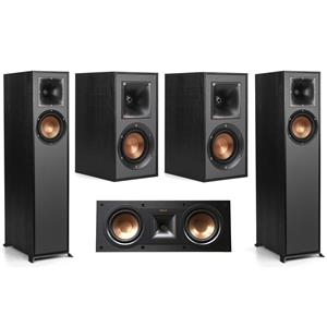 Klipsch R-610F Floorstanding Home Speaker + Klipsch Reference R-25C Center Speaker + Klipsch R-41M Bookshelf Home Speakers (Pair)
