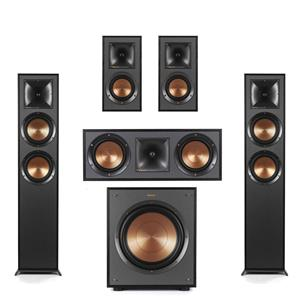 Klipsch Reference R-625FA Dolby Atmos Floorstanding Speaker + Klipsch R-625FA Floor Standing Speaker + Klipsch R-41M Bookshelf Speakers Pair + Klipsch R-52C 2-Way Center Channel Speaker + Klipsch R-100SW 300W Subwoofer