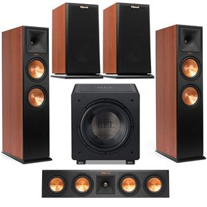 Klipsch RP-280FA Reference Premiere Atmos Floorstanding Speaker + Klipsch RP-280FA Front Speaker + Klipsch 2-Way Center Speaker + Klipsch Bookshelf Speaker Pair + Rel Acoustics Home Theater Subwoofer