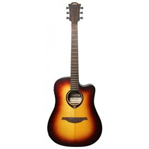 Lag Tramontane 70 Dreadnought Cutaway Solid Canadian Spruce Electro Guitar (Brown Sunburst)