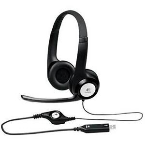 Logitech H390 ClearChat Comfort USB Headphones with Noise Cancelling Microphone (Black)