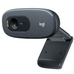 Logitech C270 HD Webcam with 720p Video Calling and Recording - Refurbished