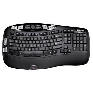 Logitech K350 Wireless Ergonomic Keyboard (Black)