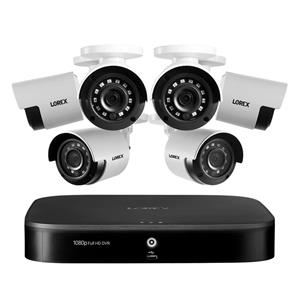 Lorex 1080p HD 8-Channel 1TB Security System with 6x Night Vision Cameras