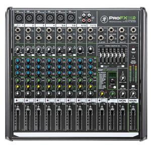 Mackie ProFX12v2 12-Channel Professional FX Mixer with USB, 4 Stereo Channels, 7-Band Graphic EQ