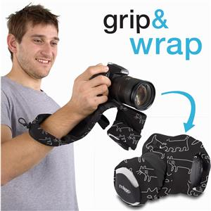 Miggo Grip /& Wrap DSLR Black//Red