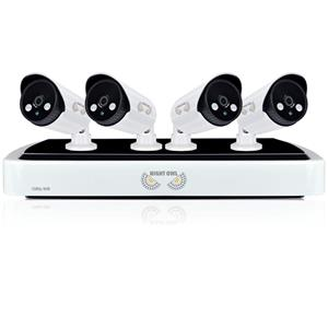 Night Owl 4-Channel 4 1080p IP Night Vision Cameras with 1TB HDD HD NVR Security System