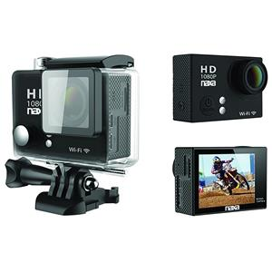 Naxa NDC-404 12MP Waterproof 1080p Action Camera with Wi-Fi