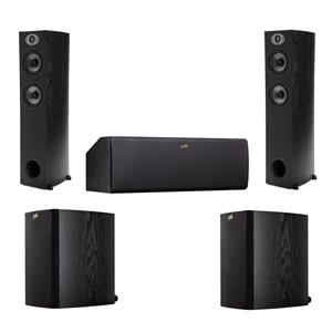 Polk Audio TSx 330T 2-Way Floorstanding Tower Speaker + Center Speaker + Bookshelf Speakers Pair