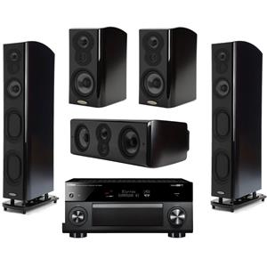 2 x Polk Audio LSiM 707 Flagship Floor Standing Speaker (Black) + 2x Polk Audio LSiM703 Bookshelf Loudspeaker + Polk Audio LSiM706c Center Channel Speaker + Yamaha RX-V2085BL 9.2-Ch Network AV Receiver