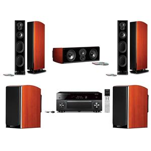 Polk Standing Speaker + Bookshelf + Center Ch + AV Receiver