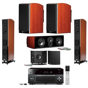 Polk Audio LSiM Speaker Home Theater Bundle Yamaha AV