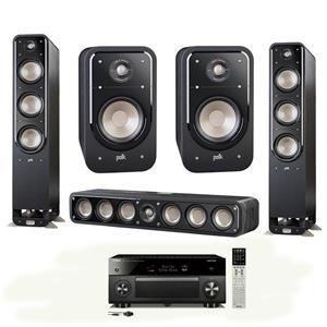Polk Audio Home Theater 2x S60 Tower/S35 Center/S20 Bookshelf Speaker /RXA2070BL