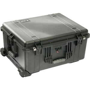 Pelican 1610 Watertight Hard Case with Cubed Foam & Wheels (Black)
