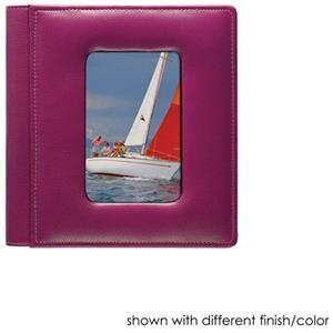 Raika #168 SR Leather 4x6 4up Foldout Photo Album, Red: Picture 1 regular