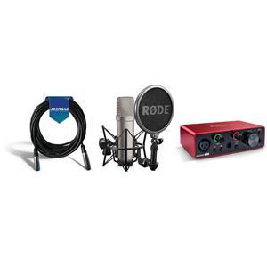 rode microphones nt1 a quiet studio condenser mic w scarlett audio cable nt1 a d. Black Bedroom Furniture Sets. Home Design Ideas