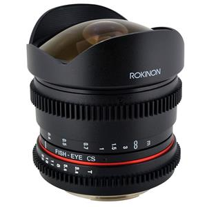Rokinon RK8MV-C 8mm T3.8 Cine Fisheye Lens for Canon Video DSLR with Declicked Aperture