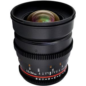 Rokinon Cine CV24M-C 24mm T1.5 Cine Wide Angle Lens for Canon EF-Mount