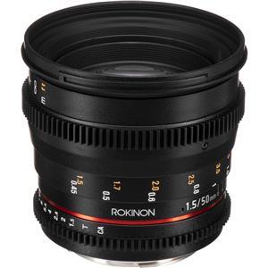 Rokinon DS50M-C 50mm T1.5 Cine DS Lens for Canon EF Cameras - Black + $10.98 Adorama.com Credit