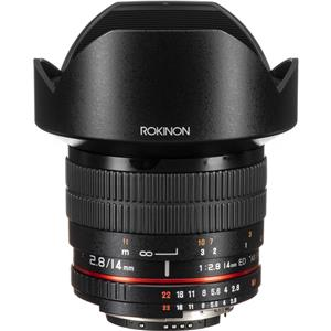 Rokinon 14mm f/2.8 IF ED UMC Lens For Nikon with AE Chip (Black)