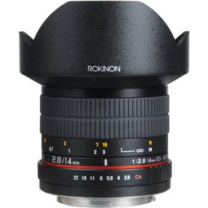 Rokinon 14mm f/2.8 IF ED Super Wide Angle Lens for Canon DSLR (FE14M-C)