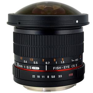 Rokinon HD8M 8mm f/3.5 HD Fisheye Lens with Removable Hood for Canon