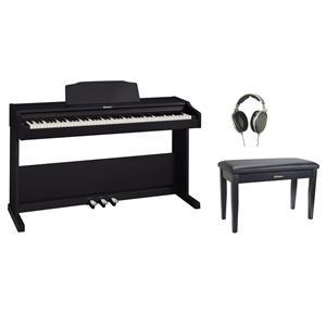 Roland RP-102 88 Key Digital Piano (Black) + Headphone + Piano Bench
