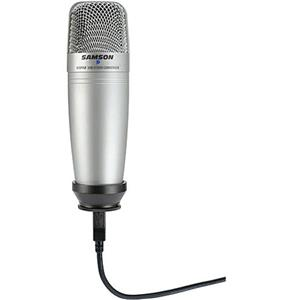 Samson C01UCW USB Studio Condenser Hypercardioid Microphone with 10' USB Cable
