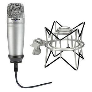 Samson C01UCW USB Condenser Microphone + Samson SASP01 Shock Mount