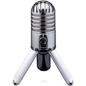 Samson Meteor Large Diaphragm USB Studio Microphone - Silver