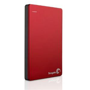 Seagate Backup Plus Slim 2TB USB 2.0 / USB 3.0 Portable External Hard Drive (Red)