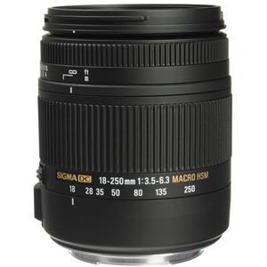 Sigma 18-250mm f/3.5-6.3 DC Macro OS HSM Zoom Lens for Canon EOS Digital SLR Cameras (Black)
